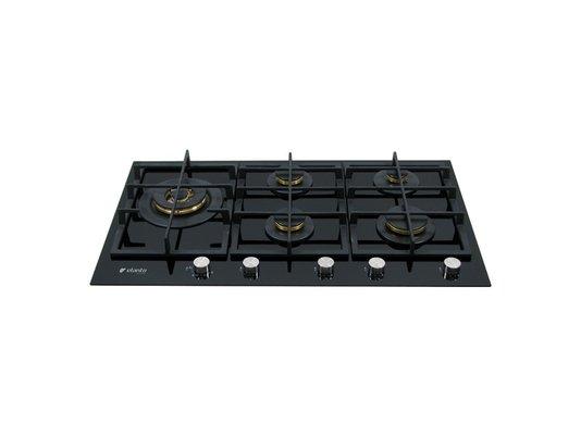 Cooktop a Gás Elanto Nero Argento Vitrocerâmico 5Q| 90cm| 6kW 220V
