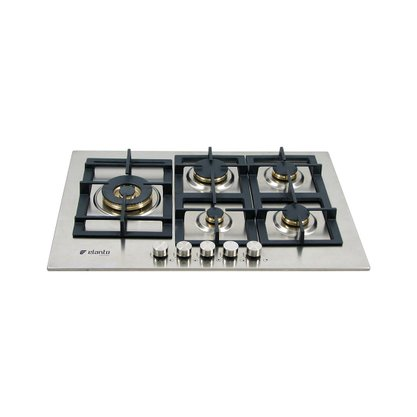 Cooktop a Gás Elanto Professionale Lateral 5Q | 4kW | 75cm Inox
