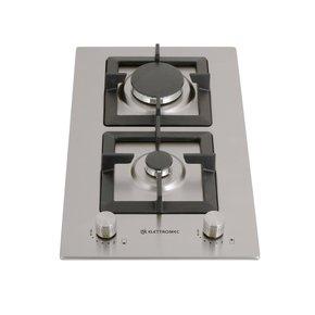 Cooktop Dominó a Gás Elettromec Quadratto 2Q 30cm Inox Bivolt