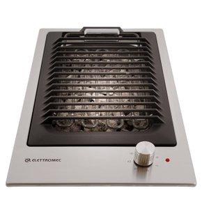 Cooktop Barbecue Quadratto Elettromec 30cm Inox 220V