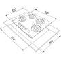 Cooktop a Gás Franke Glass 4 Queimadores 60G Bivolt